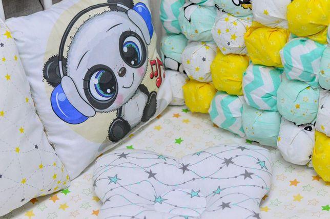 """Набор в кроватку """"Панды """""""