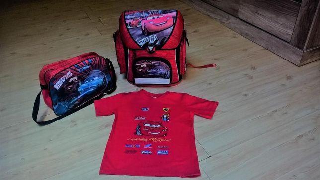 Zestaw 3 x Cars: Tornister, torba, koszulka