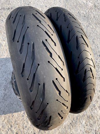 120 70 17 + 180 55 17 Michelin Road 5, моторезина, покрышка, мотошина