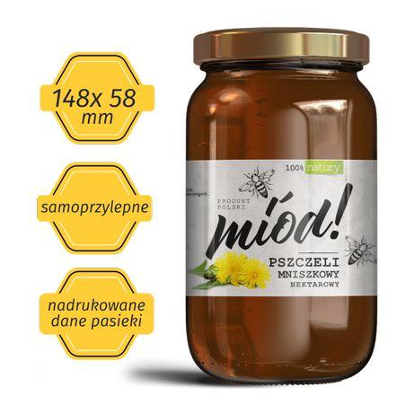 Etykiety na miód | pszczoły | miód