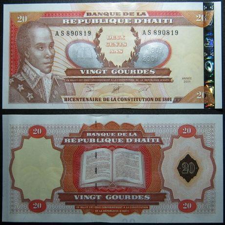 """Гаити 20 гурдов. """"200 лет Конституции Гаити"""""""