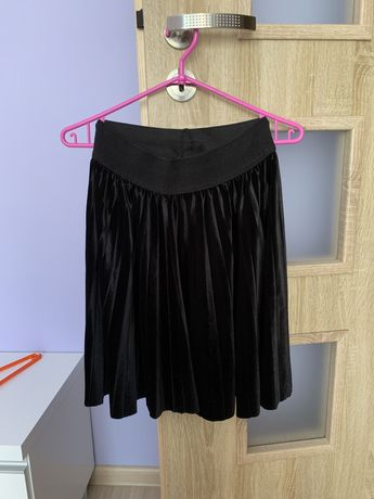 czarna plisowana spódniczka roz. XL
