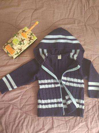 Тёплый свитер / кофта / кардиган на мальчика