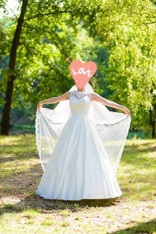 Весільне плаття ( королівський атлас(