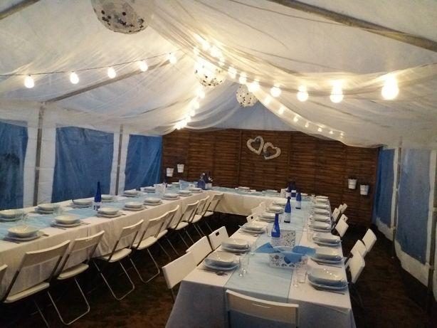 Namioty Wynajem wypożyczalnia namiotów z wyposażeniem zastawy stołowej