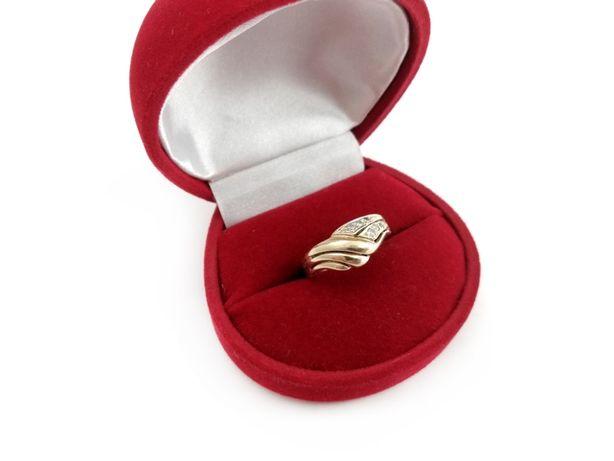 Złoty pierścionek z CYRKONIAMI 585 2,16G R13