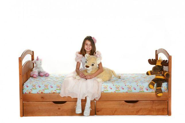 Односпальная кровать Карина с ящиками из дерева