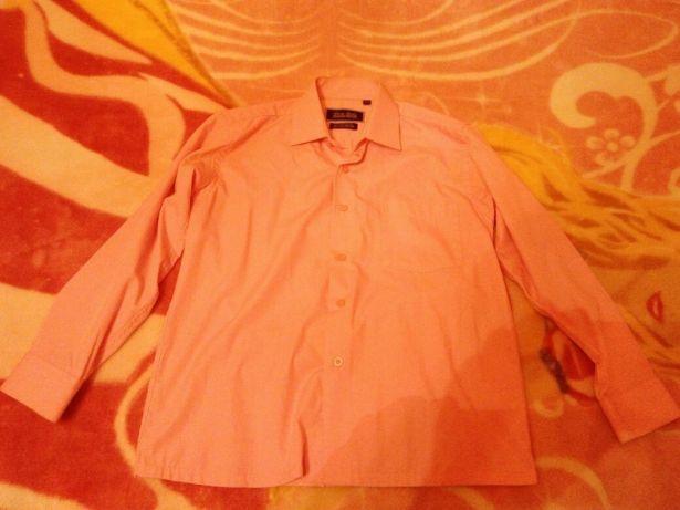 Бавовняна рожева сорочка на школяра.