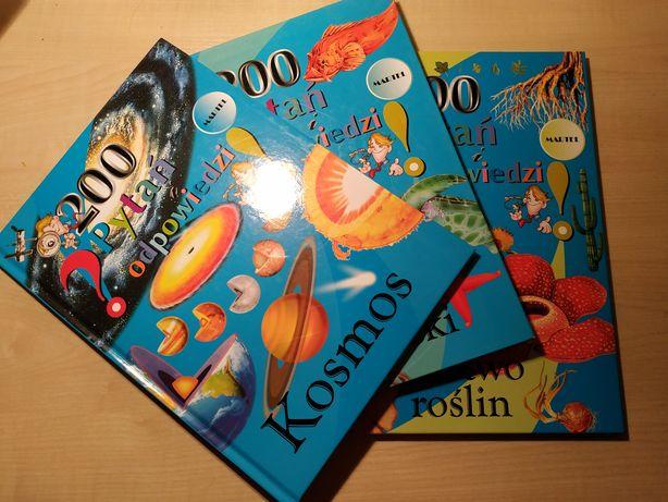 Książki 200 pytań i odpowiedzi - rośliny oraz oceany i rzeki
