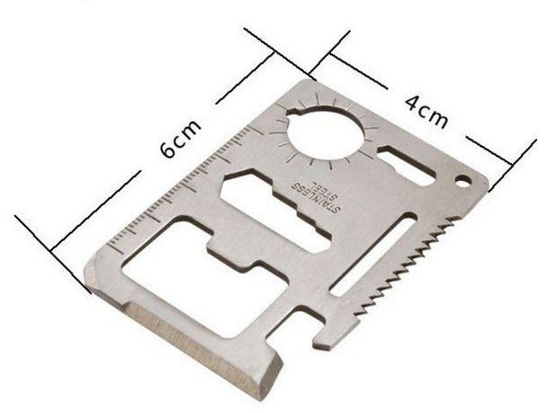 Открывалка многофункциональная 11 в 1 металлическая