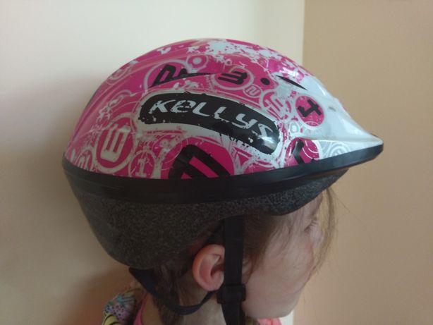 Kellys różowy kask rowerowy dla dziewczynki do 5lat