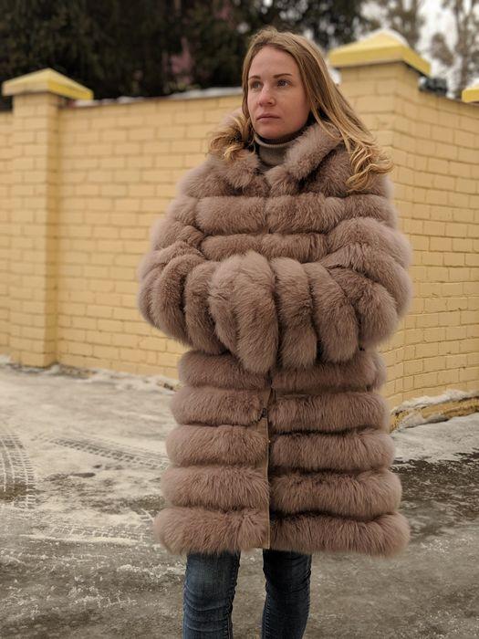 Шуба + капюшон мех натуральный песец Харьков - изображение 1
