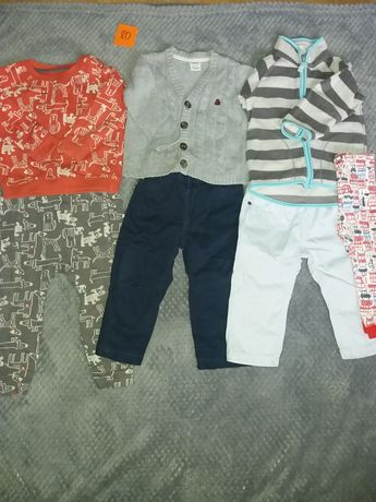 Zestaw dla chłopca spodnie bluzy sweterki dresy 80