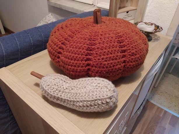 Abóboras decorativas em crochet