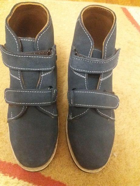 Ботинки ортопедические кожаные для мальчика 23см