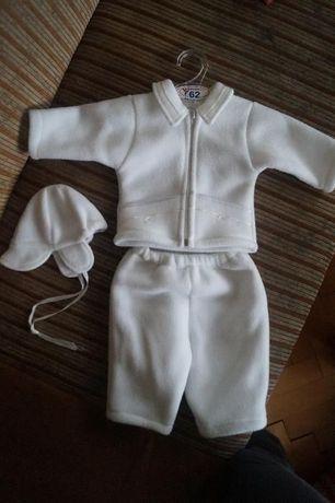 Ubranie, komplet na chrzest roz 62 dla chłopca
