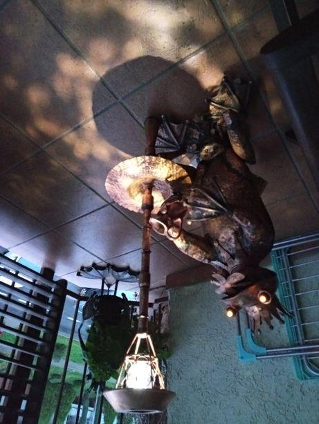żaba fontanna z blachy miedzianej