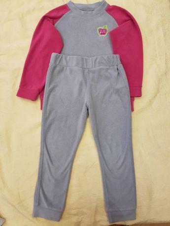 Спортивный флисовый костюмчик на девочку, р.98