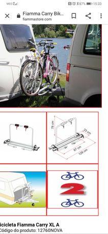 Porta bicicletas de caravana