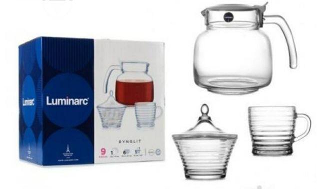 Продаю новые чайные сервизы Luminarc Rynglit 9пр.