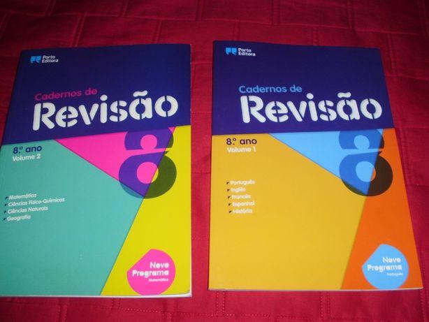 Cadernos de Revisão - 8.º Ano - Vol I e II (NOVOS)