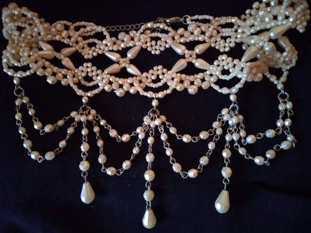Ожерелье/чокер, под жемчуг,белое красивое новое, на выпускной/свадьбу
