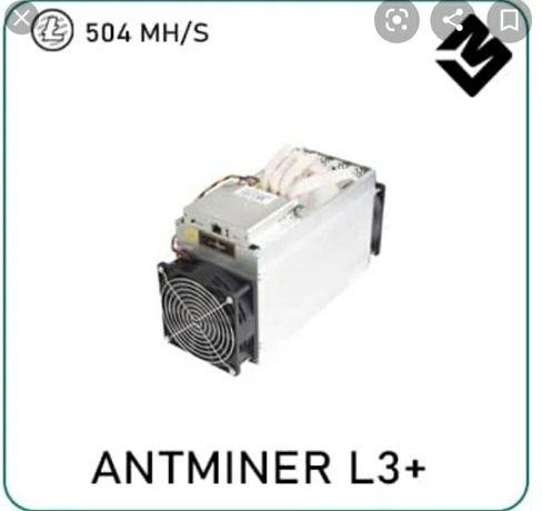 Antminer l3+ 504 mhs fonte incluida