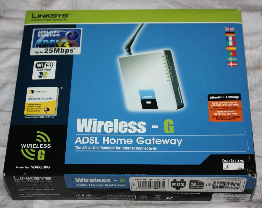 Router, modem Linksys WAG200G
