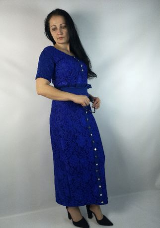 Kornkowy długi komplet spódnica bluzka guziczki kolory eVa design