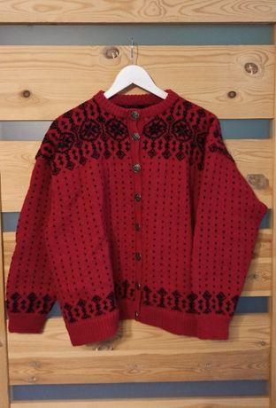 Demoniczny sweterek folk vintage retro kardigan