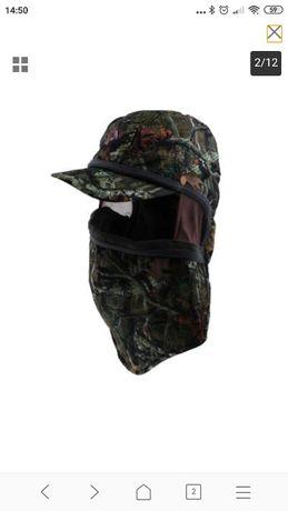 Chapéu com camuflagem para cara