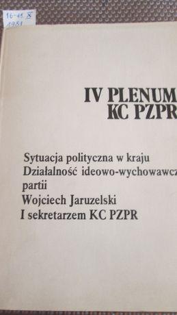 IV Plenum KC PZPR X.1981