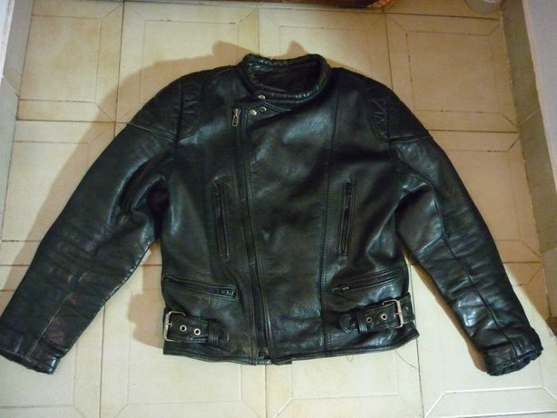 Casaco motard, 100% pele genuína