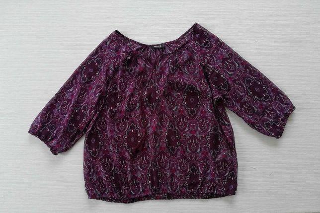 Fioletowa bluzka we wzorki-mgiełka 48/50