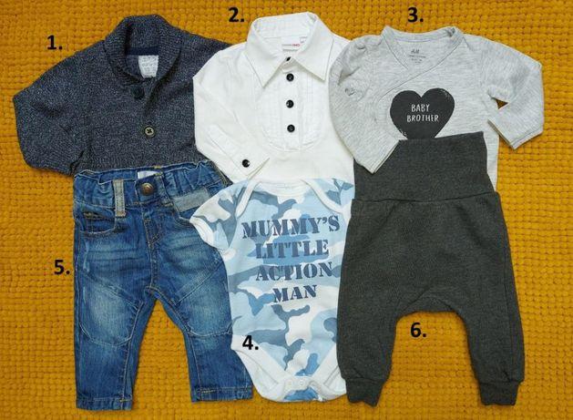Zestaw-Spodnie-body-sweterek-dresy baggy 0-3mc Jak Nowe