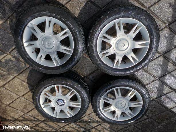 4 jantes 15 seat Ibiza furacão 5x100, com pneus