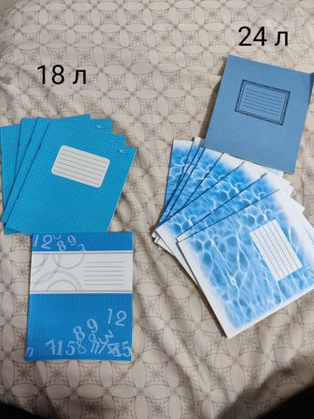 Тетради 24 и 18 листов клетка линия