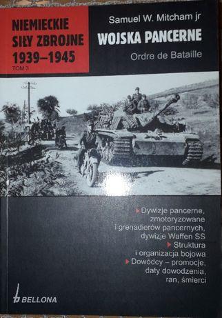 Niemieckie Siły Zbrojne 1939-45. Wojska Pancerne. Ordre de Bataille.