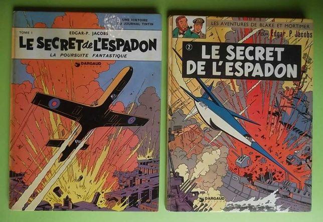 Blake et Mortimer - Le Secret de L'Espadon 1 e 2 - Edições de 1970