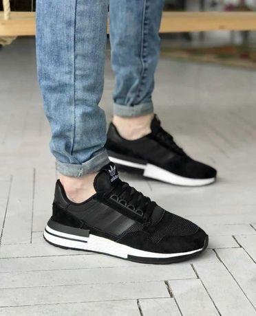 Мужские кроссовки Adidas ZX 500 RM Черные Адидас 41-45 размеры