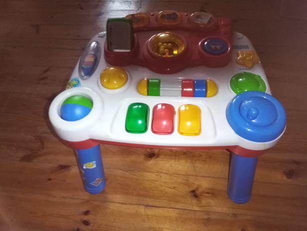Wielki zestaw zabawek stoliczek edukacyjny, sorter, klocki