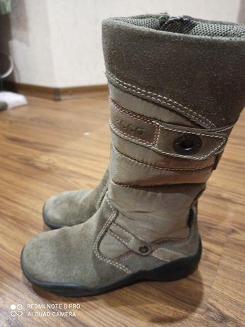 Сапожки ecco для дівчинки, сапоги зимние, ботинки, дутики ессо