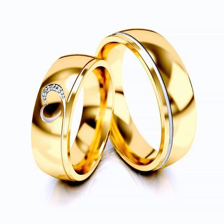 Złote obrączki próba 585 (wzór ST-331) - para
