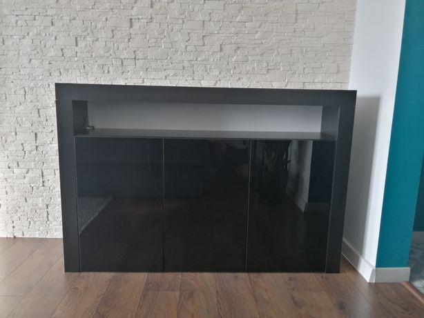 Piękna nowoczesna komoda czarny połysk