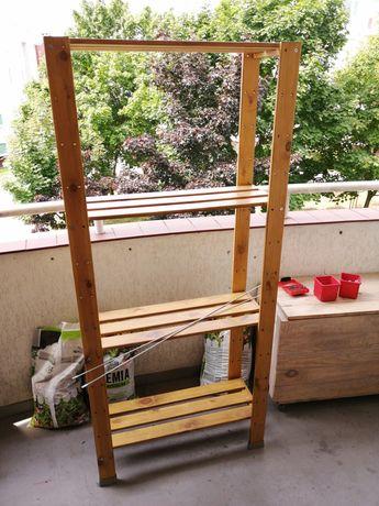 regał drewniany Ikea Hejne i drzwi Flisberget pax