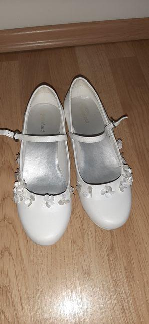 Balerinki buciki biale rozm. 36