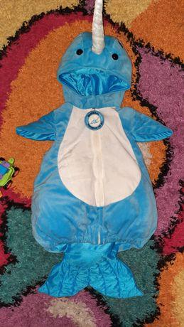 Новогодний детский  костюм акулы