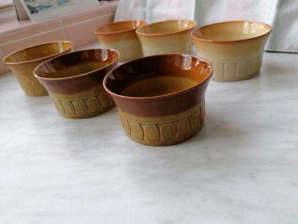 Stare salaterki ceramiczne kolekcja - 6 szt.- Tułowice