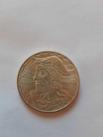 Moeda 50 escudos Vasco da Gama em prata