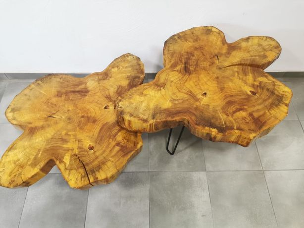 Zestaw stolików kawowych loftowych z plastra stolik kawowy loftowy